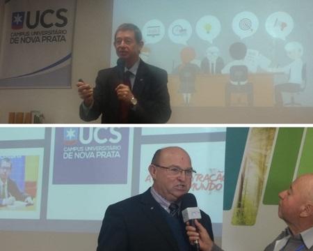 Adm. Rogério Bohn realiza palestra na UCS Polo Nova Prata
