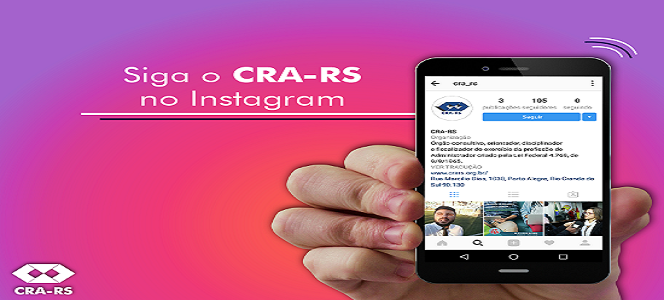 SIGA O CRA-RS NO INSTAGRAM!