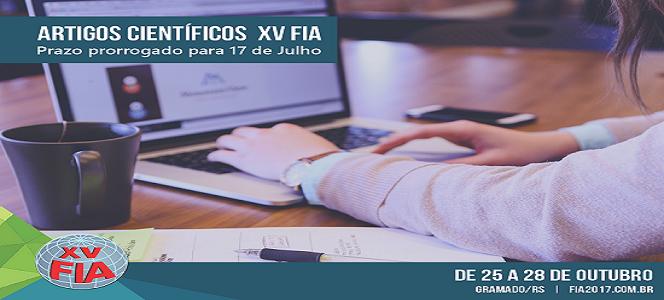 ÚLTIMOS DIAS: inscrições de artigos científicos para o XV FIA vão até a próxima segunda-feira 17/07