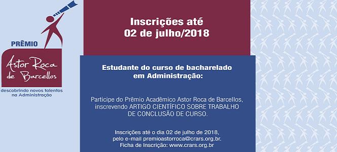 Inscrições abertas para o Prêmio Astor Roca de Barcellos