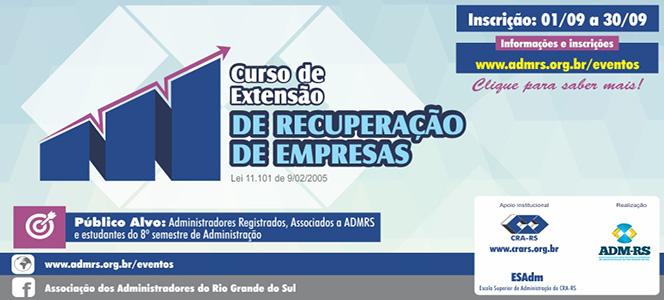ESAdm promove curso de Recuperação de Empresas