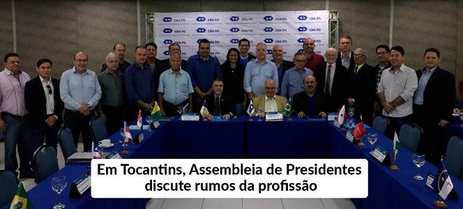 Palmas recebe Assembleia de Presidentes do Sistema CFA/CRAs