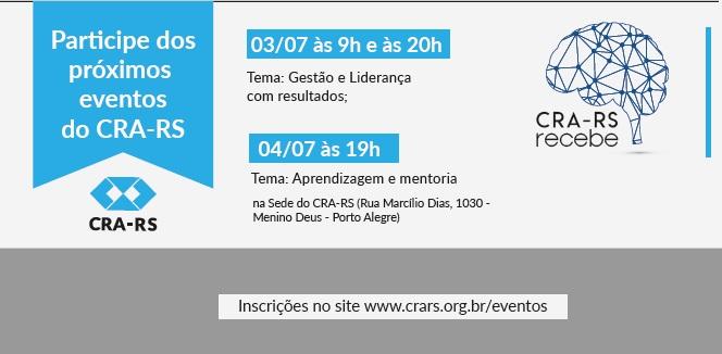 Conselho promove três edições do CRA-RS Recebe na próxima semana