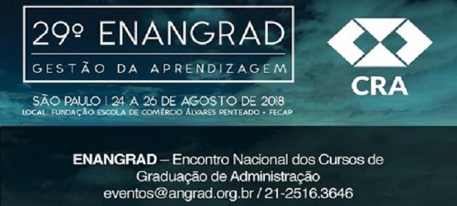 Profissionais registrados no CRA-RS tem desconto no ENANGRAD