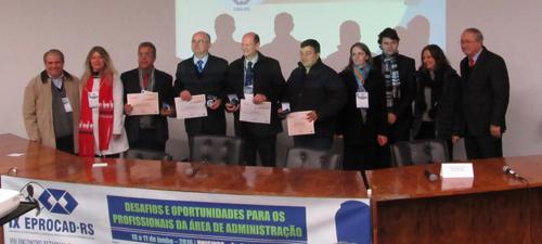 Prêmio Docência no Ensino Superior de Administração é entregue durante IX EPROCAD-RS