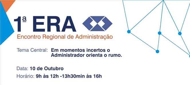 Presidente do CRA-RS palestra no 1º Encontro Regional de Administração