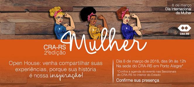 CRA-RS Mulher - 2ª edição discute assuntos ligados à profissão no Dia Internacional da Mulher