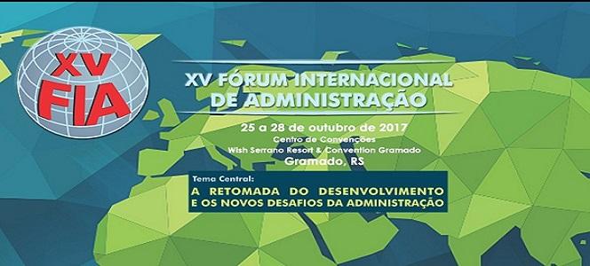 Já fez sua inscrição no XV Fórum Internacional de Administração?