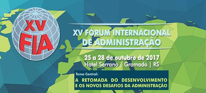 Participe do XV Fórum Internacional de Administração
