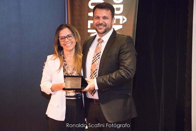 CRA-RS recebe homenagem durante Prêmio Jovem Empresário 2018