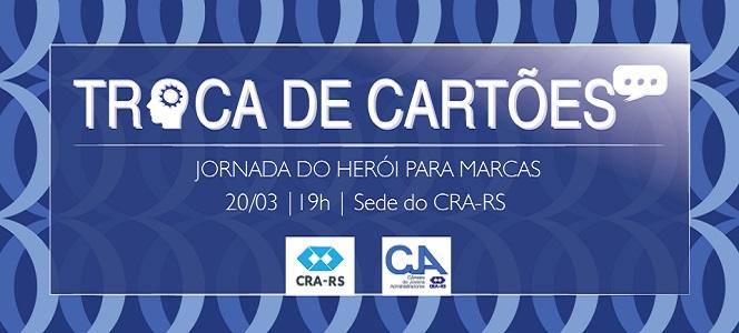 Troca de Cartões o debate Jornada do Herói para marcas na próxima terça-feira (20/03)