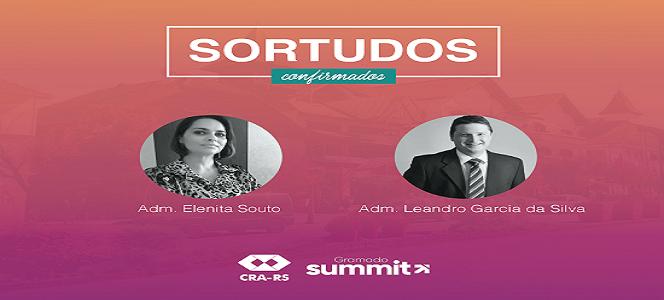 Os Administradores Elenita Souto e Leandro Garcia foram os vencedores da promoção