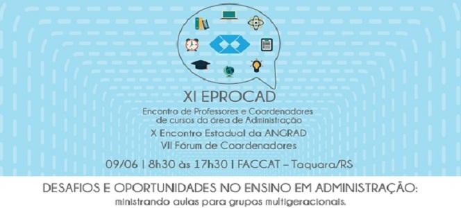 XI EPROCAD acontece no dia 9 de junho