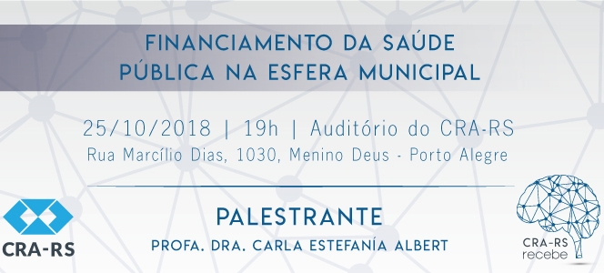 CRA-RS Recebe aborda saúde pública no dia 25 de outubro