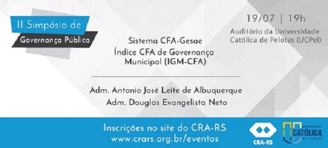 Cidade de Pelotas recebe II Simpósio de Governança Pública