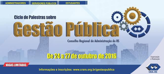 CRA-RS promove palestras sobre Gestão Pública