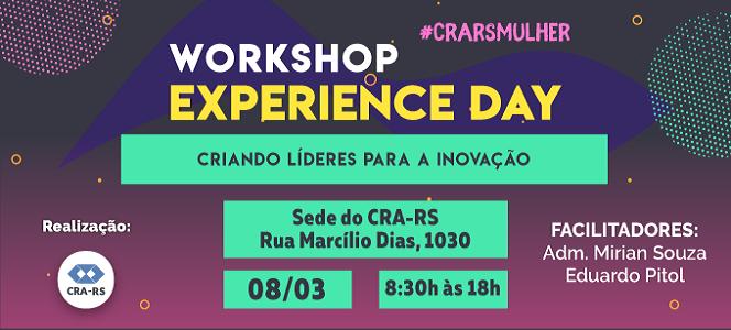 EXPERIENCE DAY! CRA-RS promove dia de imersão em inovação e empreendedorismo feminino