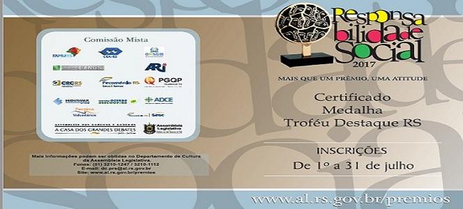 CRA-RS integra comissão da Assembleia para o prêmio Responsabilidade Social 2017